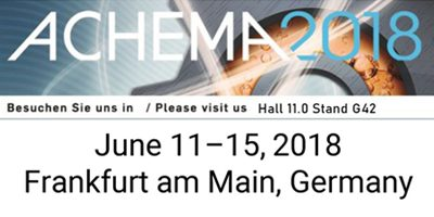 See RheoStream live at ACHEMA 2018