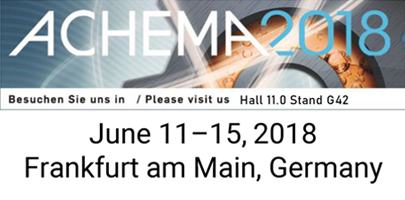 Fluidan will exhibit RheoStream at ACHEMA 2018