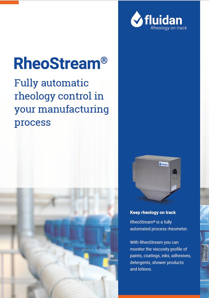 Frontpage of brochure - RheoStream process rheometer